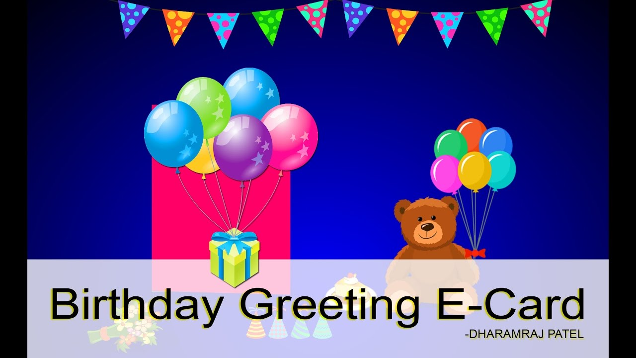 Birthday E Greeting Card   YouTube