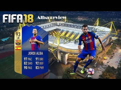 FIFA 18 TEAM OF THE SEASON JORDI ALBA REVIEW. AMAZING