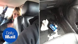 Customer throws beer can at Uber driver after