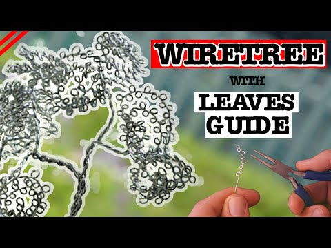 Wire Tree Sculpture EASY DIY Tutorial - With Leaves Tutorial