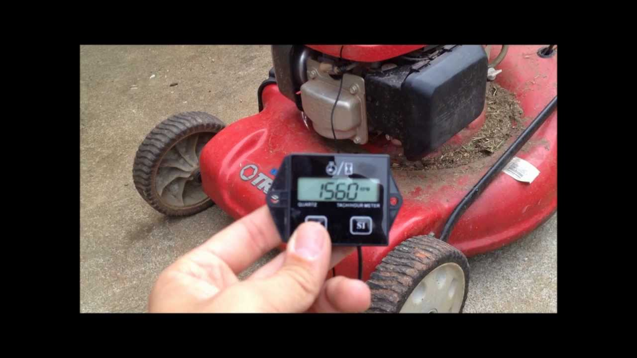 lawnmower tachometer hour meter install youtube