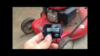 Lawnmower Tachometer / Hour Meter Install