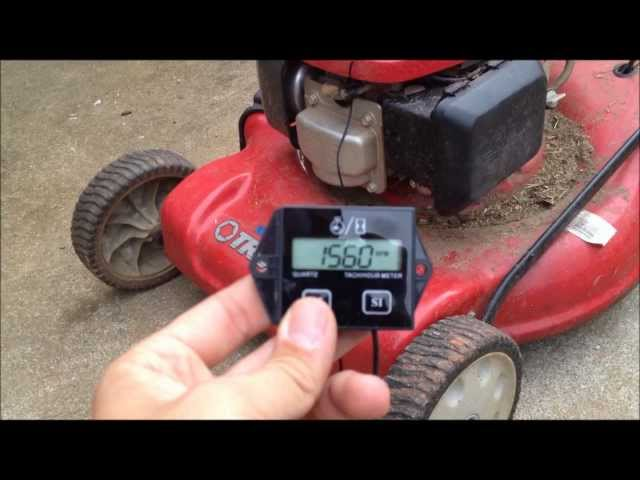 Fenteer Waterproof Tachometer Motorcycle Snow Blower Lawn Mower 2 ...