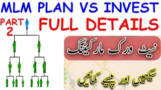 ONLINE EARNING INVESTMENT PLAN VS MLM NETWORK PLAN PART #2