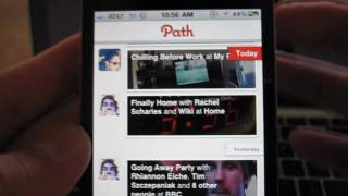Path for iPhone: Hands On