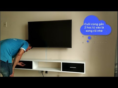 Cách lắp kệ tivi treo tường siêu đơn giản