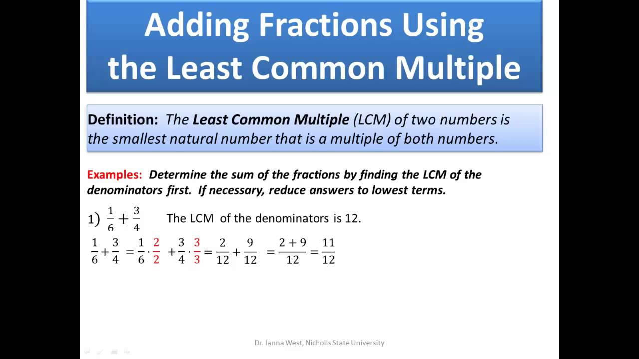 Addition And Subtraction Of Real Numbers Part 2 (fractions)