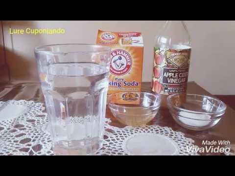 vinagre de manzana y bicarbonato de sodio para que sirve