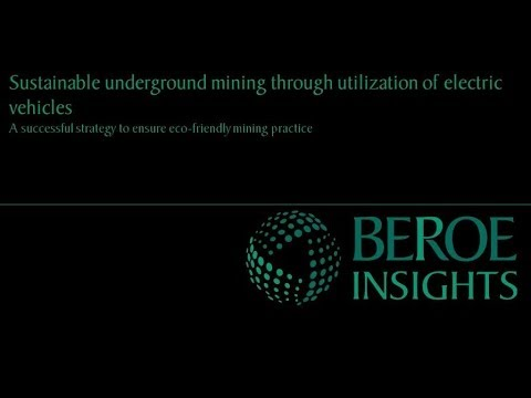 Sustainable mining through usage of electric vehicles in underground mines