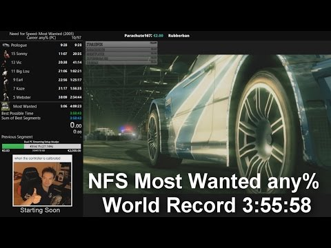 NFS Most Wanted Speedrun - any% World Record 3:55:58
