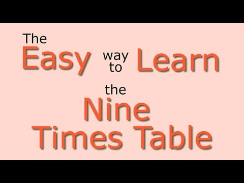 9 Times Table Easy Way To Learn The