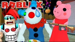 Piggy en El Circo del Terror   Clowny vs Piggy   Juegos Roblox en Español