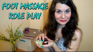 Массаж Ног АСМР Видео/ASMR Roleplay Foot Massage Spa