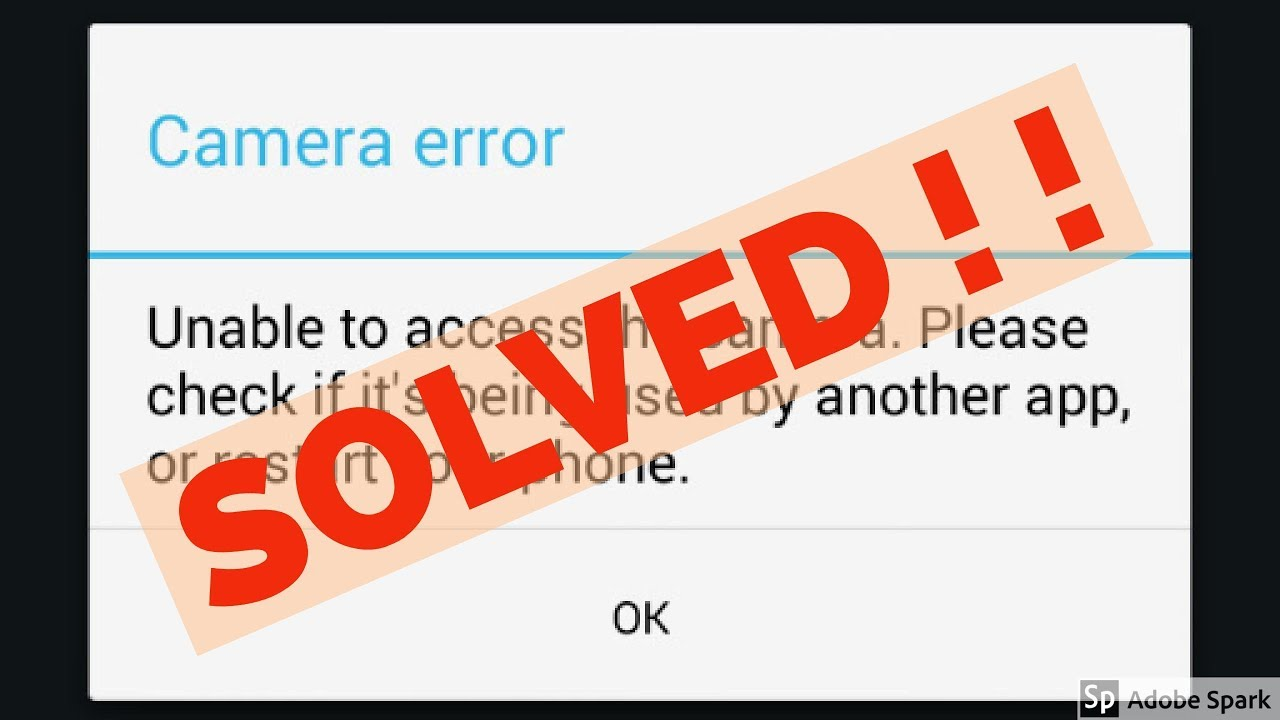 How to fix Camera error|Unable to access the camera in google duo