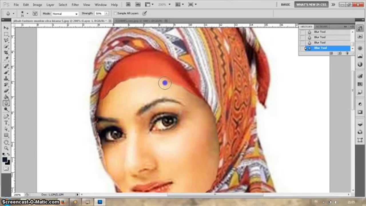 tutorial cara edit foto dengan photoshop cs5 - YouTube