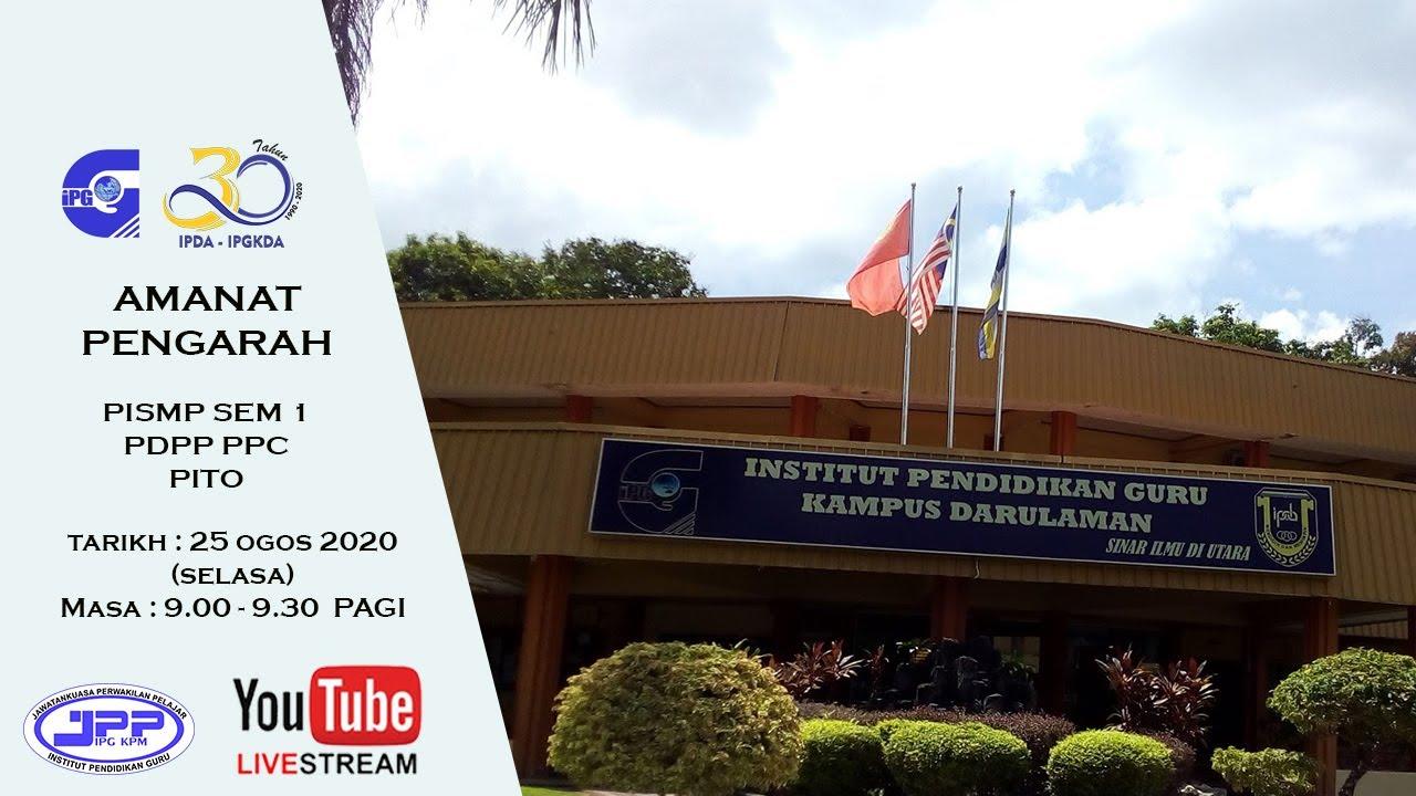 Amanat Pengarah Sem 1 Pdpp Pito Ipg Kampus Darulaman Youtube