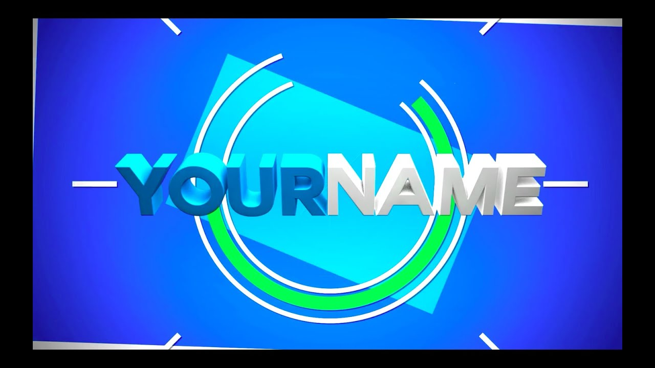free 2 5d intro template 56 tutorial download youtube