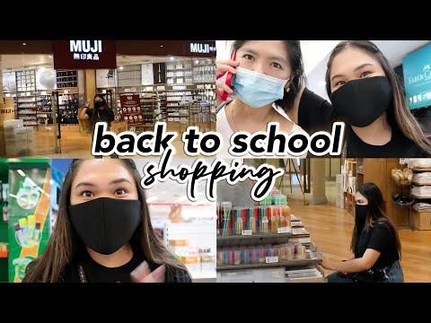 Back To School Shopping Vlog (muji + National Bookstore)