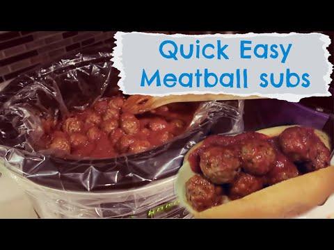 Easy Crockpot Meatball Subs