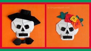 Halloween Origami -Sugar Skull : : Calavera en origami
