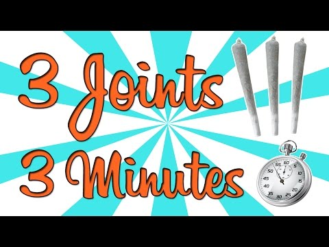 SMOKING 3 JOINTS in 3 MINUTES!!