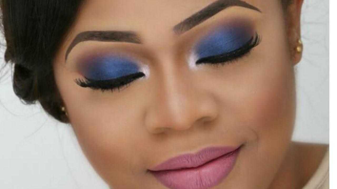 bridal makeup tutorial/wedding makeup (colourful bride ,blue smokey ) |the beauticianchic