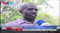 WARNING - GRAPHIC VIDEO: Teenage girls arrested in Kisumu for stripping nude for pictures