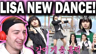 BLACKPINK LISA's upgraded Thai dance⚡️= 'Crab dance'♪ (point. poker face😶) Knowing Bros REACTION!