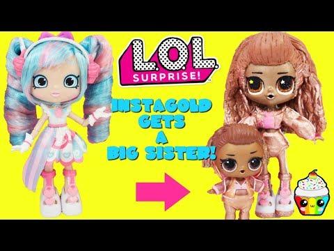 LOL Surprise Instagold Gets A Big Sister DIY Shopkins Shoppie Doll Custom Makeover