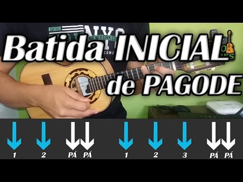 Batida de Samba e Pagode para INICIANTE!!! Como tocar Cavaquinho