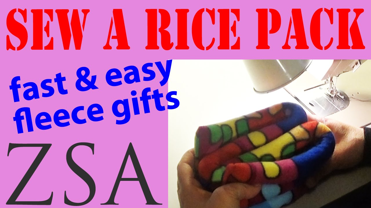 Lets Sew A Heat Pack Gift Easy Fleece Project Handy Rice Funnel