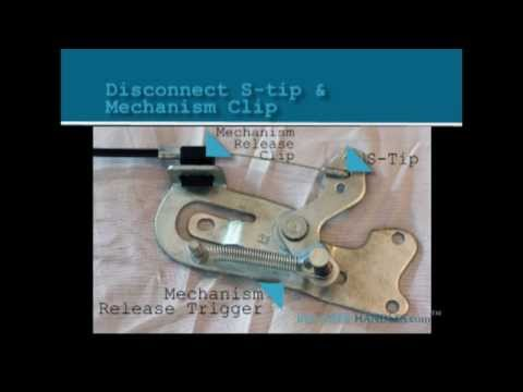 How To Install Repair Or Replace A D-Pull, D-Ring, And Flapper Style Recliner Handle And Cable