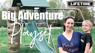 Review & How To: Lifetime Big Stuff Adventure Playset | BEST Swing Set!