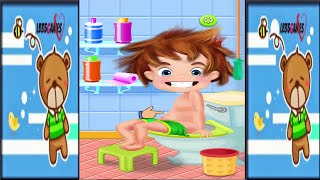 Fun Baby Care - Learn Toilet Time Potty Training Sim -Toilet Bath Time Kids Game Gameplay