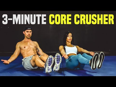STRONG CORE 3-Minute Workout Challenge (Build ROCK Hard Abs)