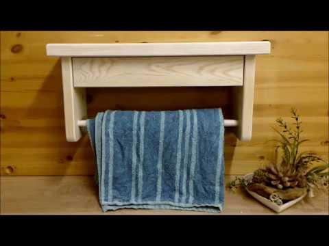 A small bathroom shelf with towel holder. DIY Tutorial ( ein kleines Badregal mit Handtuchhalter )