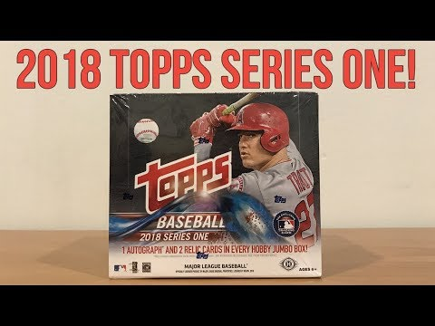2018 Topps Baseball - Series One - Jumbo Box Break!