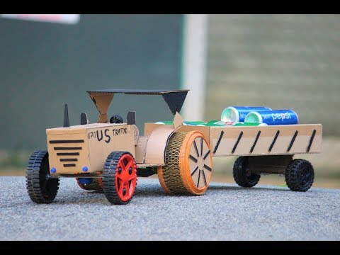 How To Make Tractor - cardboard Tractor