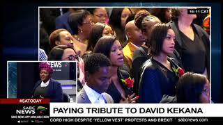 Paying tribute to David Kekana