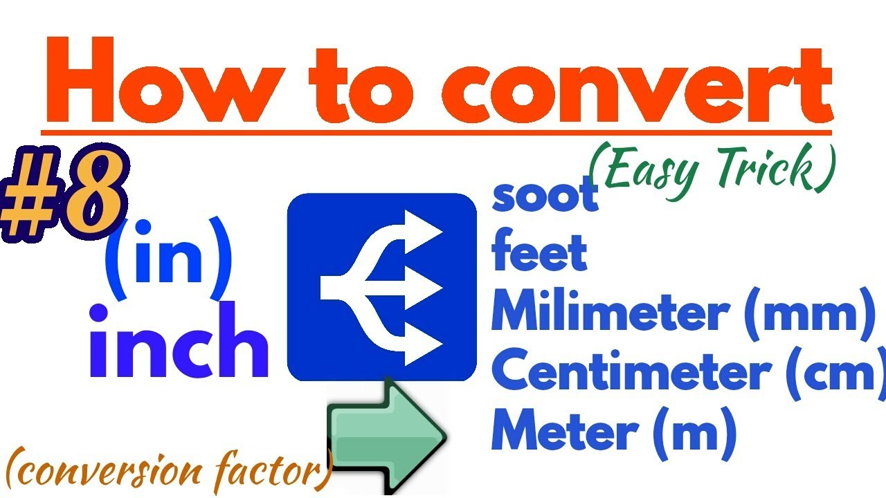 How To Convert Inch To Feet Soot Meter Mm And Centimeters East Trick Hindi