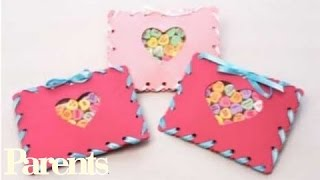 Easy Valentine's Day Craft - Sewn Candy Pouches