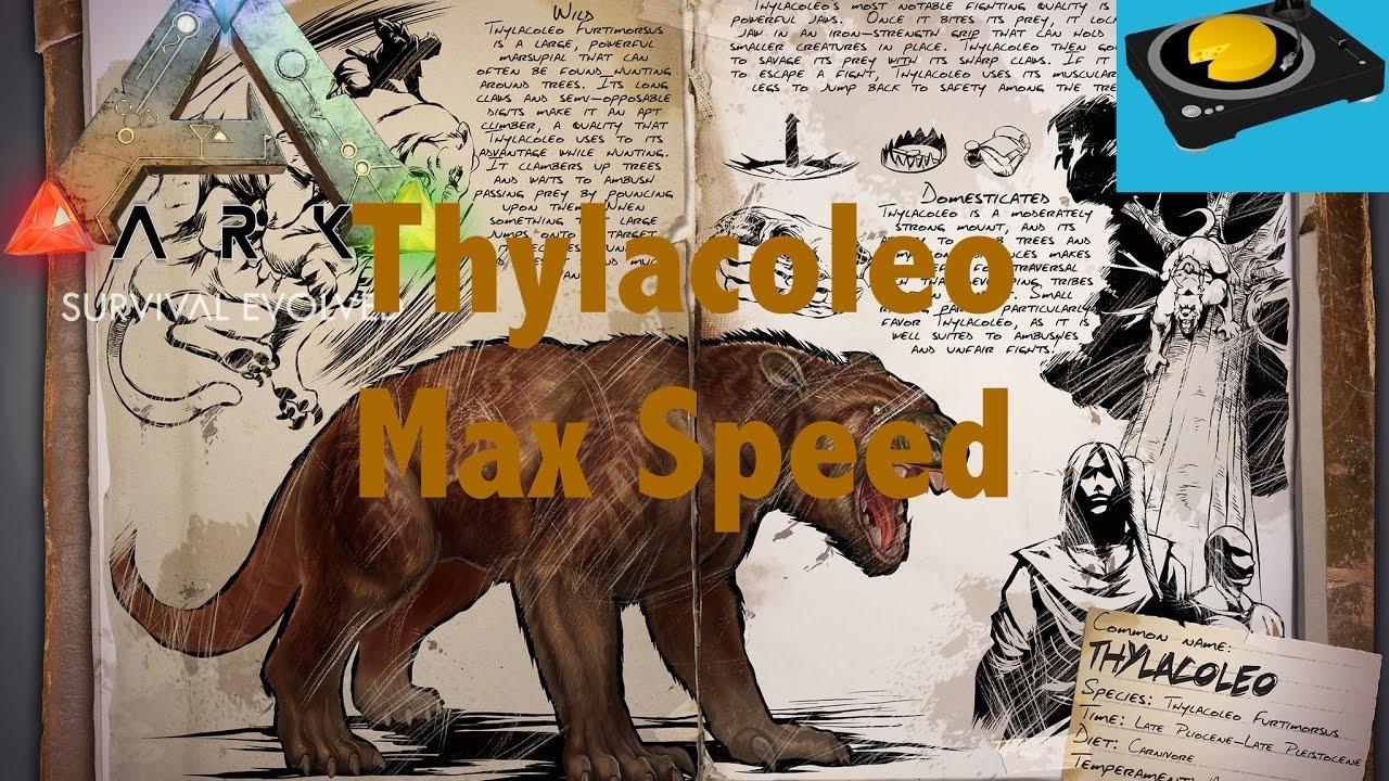 Ark Max Speed Thylacoleo Youtube