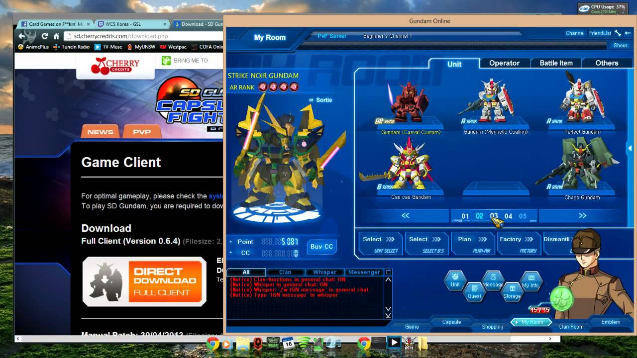 Sd gundam capsule fighter online official gameplay youtube.