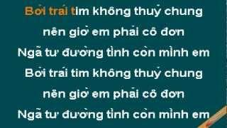 Nga Tu Duong Tinh Karaoke - Quách Thành Danh - CaoCuongPro