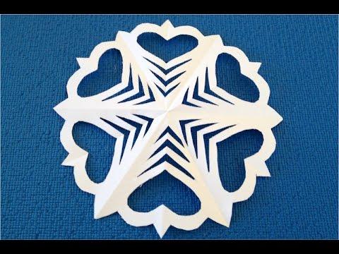 DIY. Как вырезать снежинку из бумаги пошагово. Схема снежинки из бумаги.
