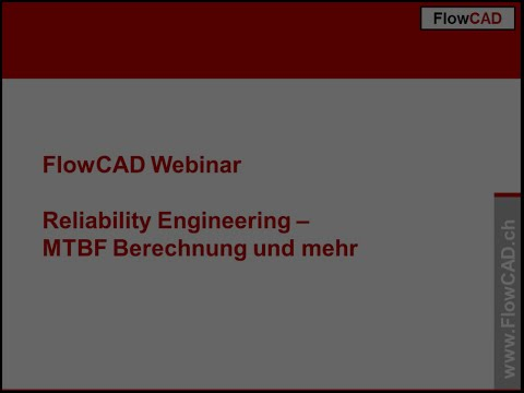 CARE software, Reliability Engineering Seminar in German language by FlowCad