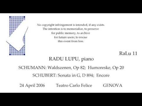 RADU LUPU  Live Recital 24 April 2006   SCHUMANN  SCHUBERT   GENOVA