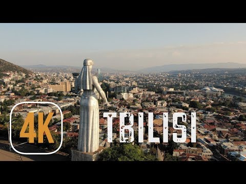 Beautiful charming TBILISI, GEORGIA aerial drone footage in 4K