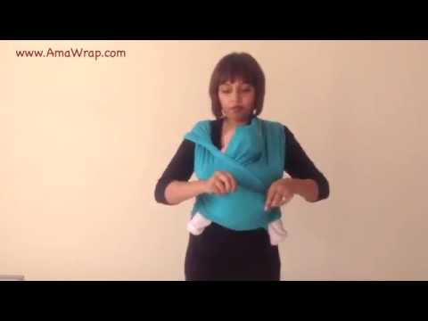 How To Tie A Baby Sling Youtube