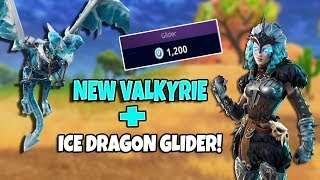 NEW VALKYRIE SKIN AND FROSTWING GLIDER! (Fortnite Battle Royale)